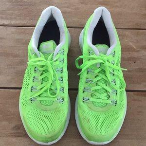Nike Lunar Glide sneaker, men's 11.5, neon green